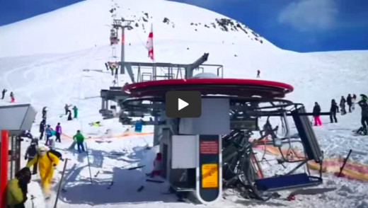 GRAPHIC VIDEO: Skiers Violently Flung From Malfunctioning Ski Lift