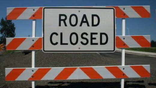 TRAFFIC NOTE - William R. Clement Parkway & Sargent Ave Closed