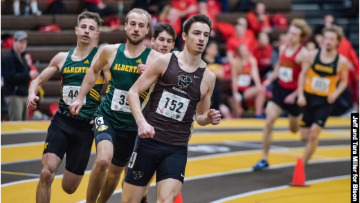 Bison Athletes Claim Silver Medals at Track & Field Championships