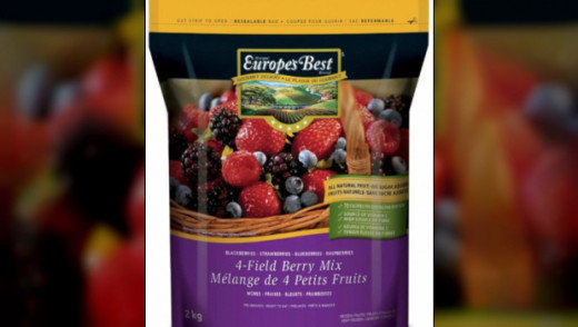 RECALL - Europe's Best brand Field Berry Mixes