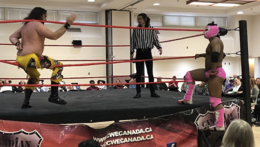 St. Amant Centre Thrilled by Wrestling Action Sunday