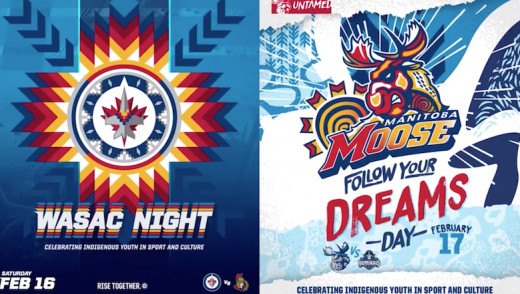 Winnipeg Jets and Manitoba Moose Celebrate Indigenous Culture with WASAC Night and Follow Your Dreams Day