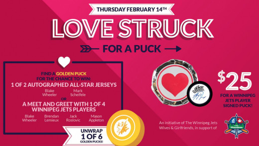 """Love Struck Puck"" Night on Valentines Day at Bell MTS Place"