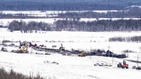 Oil Leak From Train Derailment