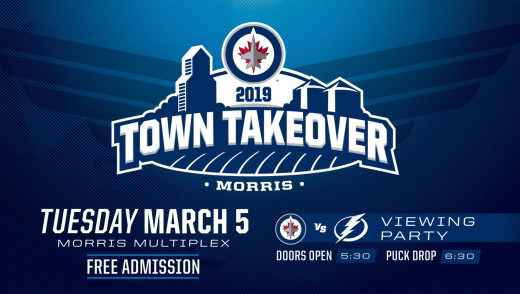 Winnipeg Jets take over Morris, Manitoba