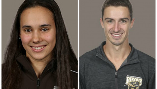 Kelsey Wog and Simon Berube are Boston Pizza Bison Sports Athletes of the Week