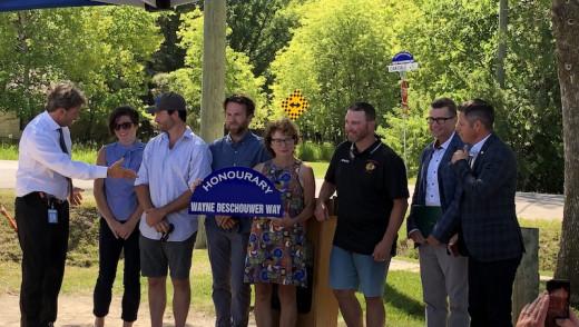 Charleswood Hawks Pillar Celebrated with Honorary Street Designation
