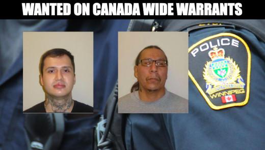 Mondor & MacDonald Wanted by Winnipeg Police