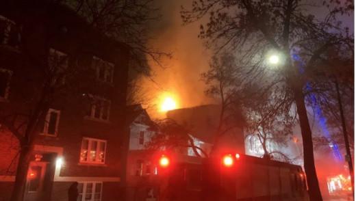 Crews Battle Apartment Fire on Agnes Street