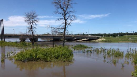 Assiniboine River In Brandon Drops