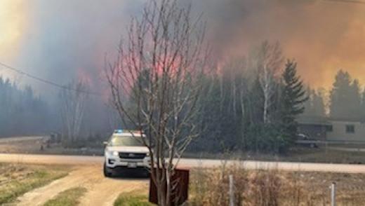 CentrePort Grass Fire