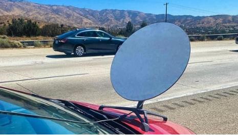 Satellite Dish On Car