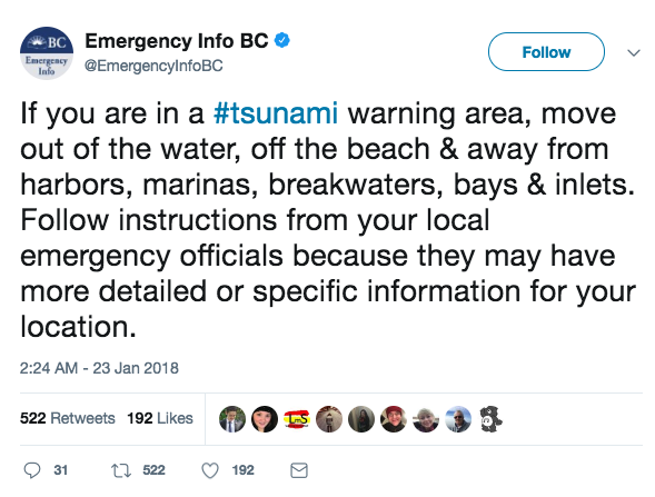 Magnitude 8.2 Quake off Alaska Prompts Tsunami Warning
