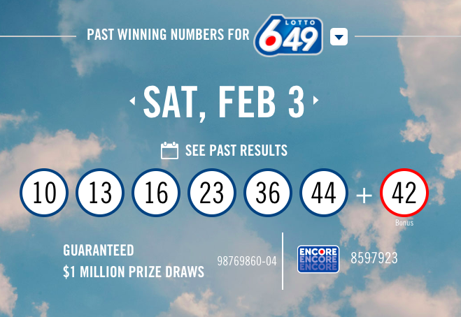 Lotto 6-49 Numbers - Feb 3rd