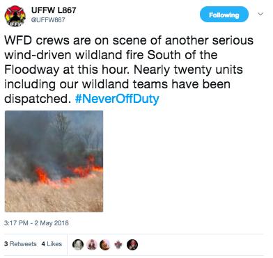 Winnipeg Fire Battling Serious Wildland Fire