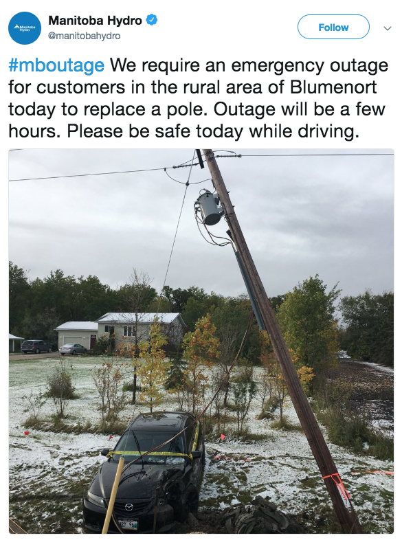 Snow in Parts of Manitoba Knocked Out Power