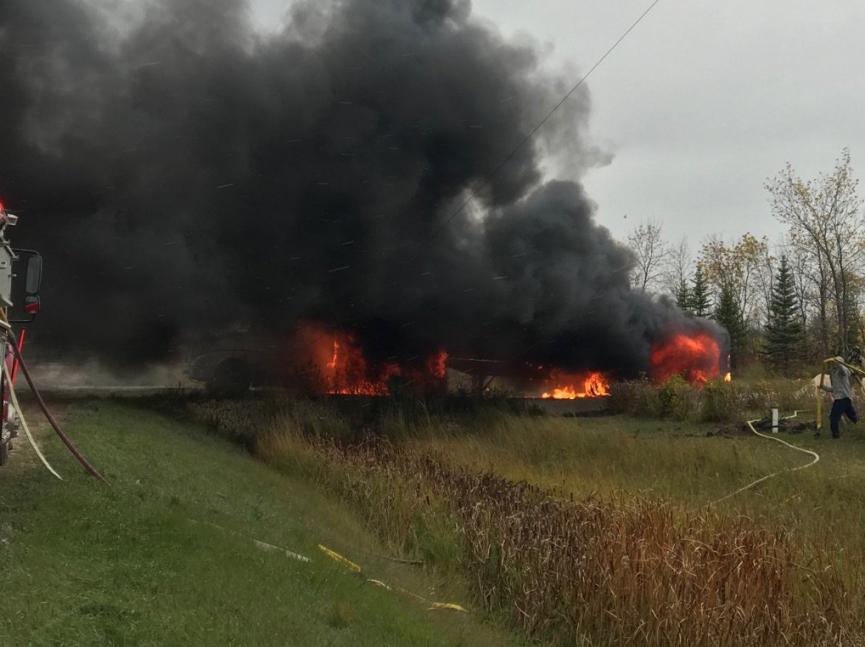 Semi Fire Closes Niakwa Road