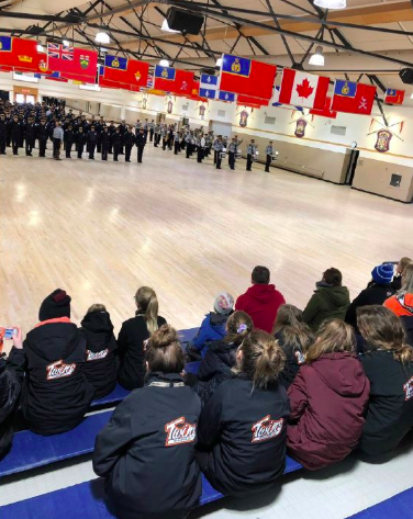 Winnipeg Hockey Teams Visits RCMP Training Facility