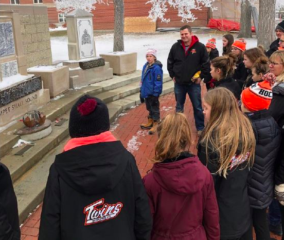 Winnipeg Hockey Teams Visits RCMP Training Facility