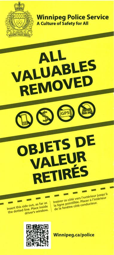Police Launch All Valuables Removed Initiative