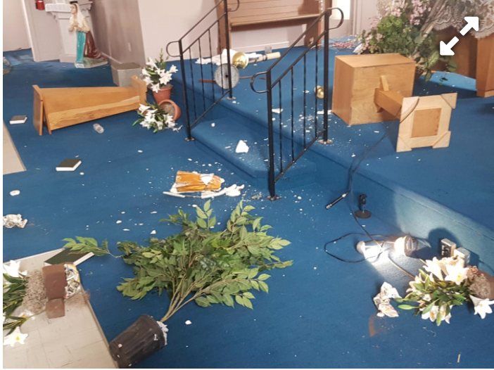 Church Vandalized in St Francois-Xavier