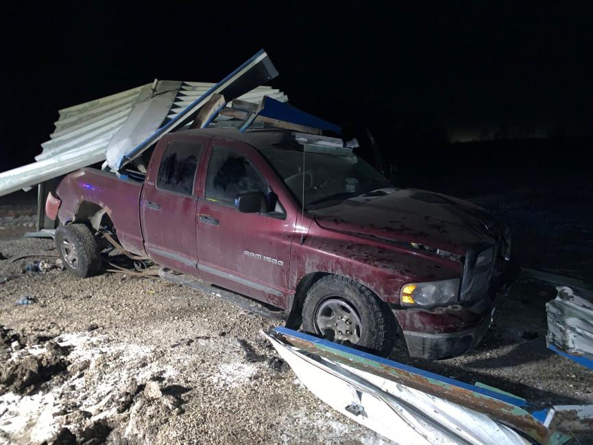 Stolen Car Crashes into Gas Line