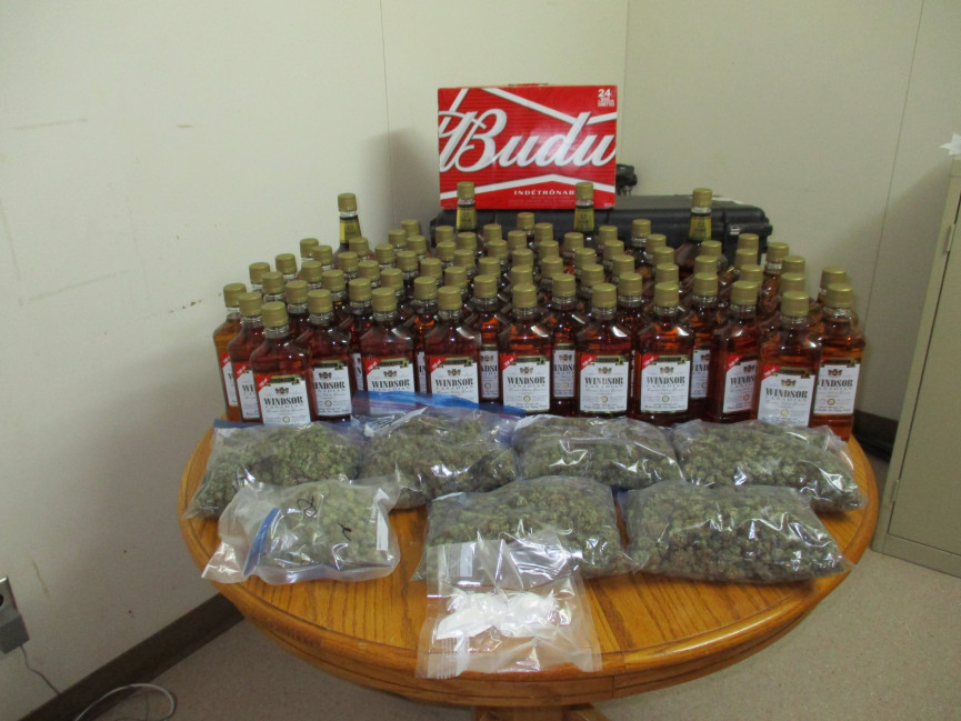 RCMP Seize Liquor and Cannabis in Checkstops