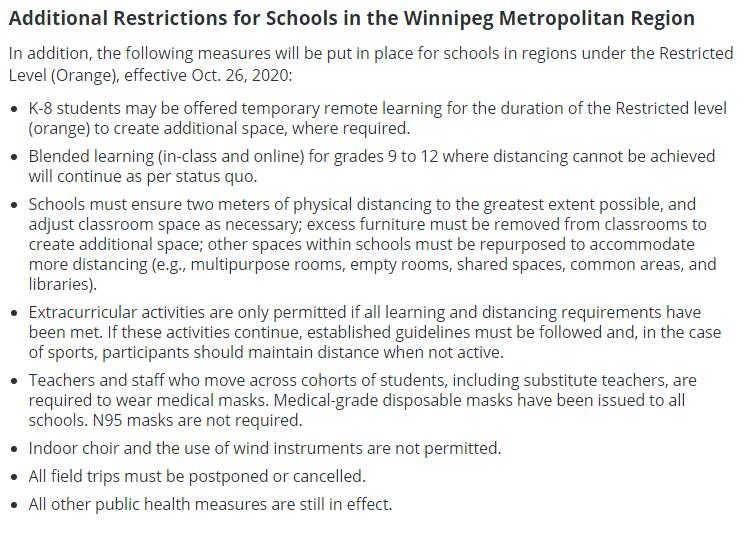New COVID Rules At Schools
