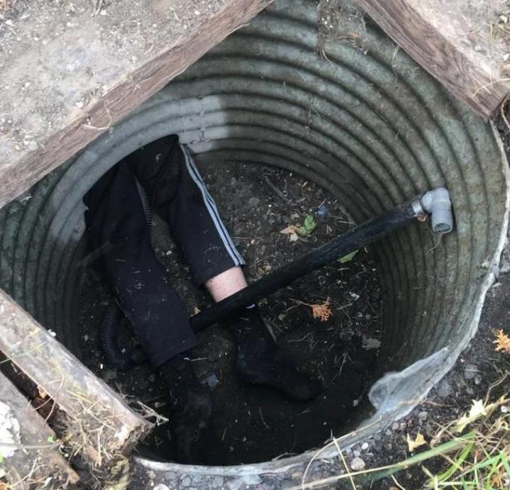 Suspect Gets Stuck