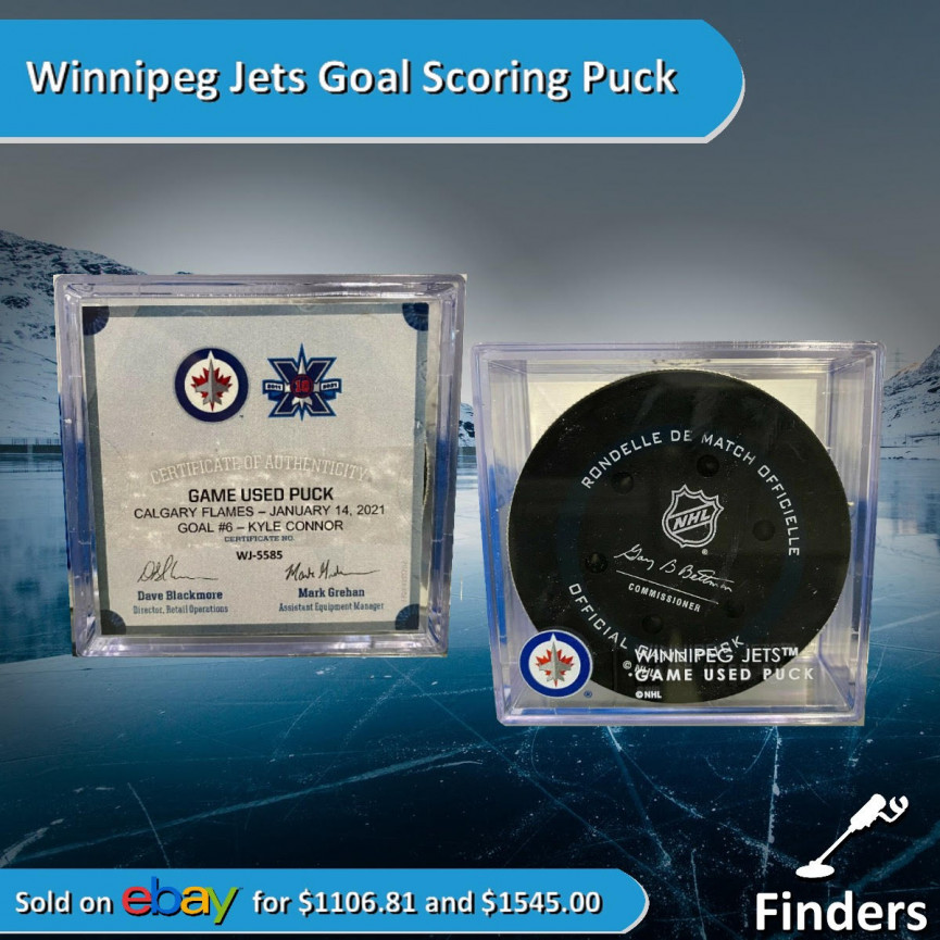 Jets Hockey Puck