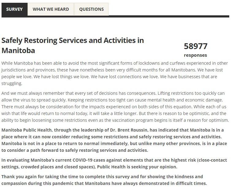 Nearly 60K Take Survey