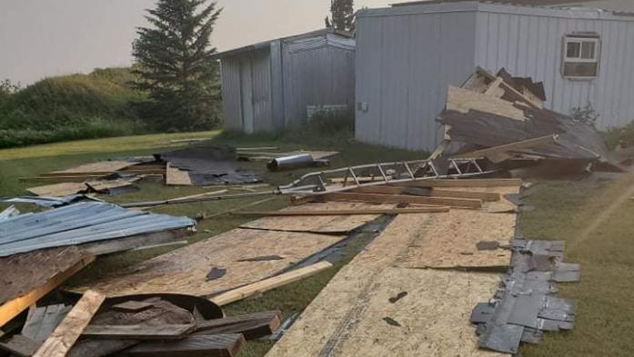 Possible Tornado Does Damage
