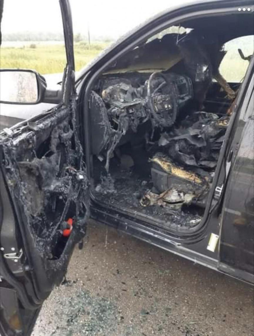 Manitoba Truck Hit By Lightning